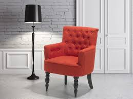 armchair classic buttons upholstery fabric red retro french