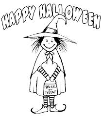 halloween coloring pages for kids cute in witch costume halloween coloring pages printable free