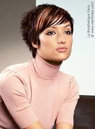 short hairstyles for a high forehead choppy short hairstyle for a high forehead and with a nape that