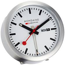 mondaine mini desk alarm clock a993 mcal 16sbb amazon co uk watches