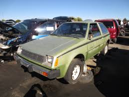 mitsubishi dodge junkyard find 1979 plymouth champ with twin stick the truth