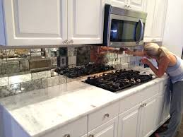 how to install tile backsplash in kitchen glass mirror mosaic tile backsplash kitchen diy concrete white