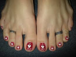 21 valentine toe nail designs valentine 039 s day toe nail art