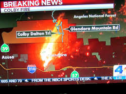 Glendora Wildfire Map by Dan U0027s Hiking Blog Colby Fire January 16 2014
