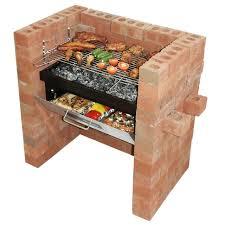 brick bbq grill smoker plans fire pit design ideas