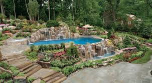 furniture glamorous swimming pool landscape design above ground