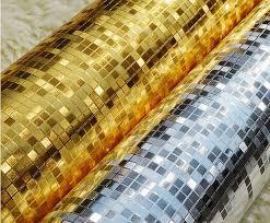Super Super Modern Luxury Gold Foil Wallpaper Roll papel de parede ouro  &WU59