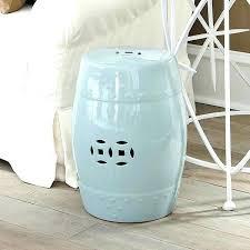 shop by light blue ceramic garden stool light blue stool wisteria