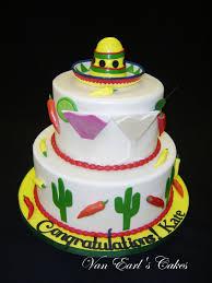 van earl u0027s cakes fiesta theme bridal shower cake