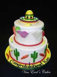 Kitchen Tea Cake Ideas Van Earl U0027s Cakes Fiesta Theme Bridal Shower Cake