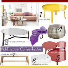 Kid Friendly Coffee Table Great Kid Friendly Coffee Table 7 Kid Friendly Coffee Tables