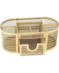 Yellow Desk Organizer Don U0027t Miss This Bargain Mesh Oval Desk Organizer In Gold