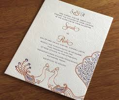 modern indian wedding invitations indian letterpress wedding invitation designs hindu inspired