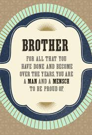 man and mensch rosh hashanah card for brother greeting cards
