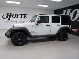 white 4 door jeep wrangler 2014 jeep wrangler unlimited 4x4 4 door suv sport white used suv