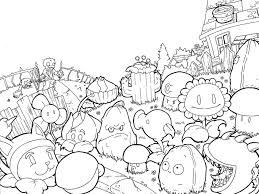 plants zombies coloring pages printable coloringstar