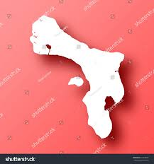 Bonaire Map Bonaire Map Isolated On Red Background Stock Vector 614070662