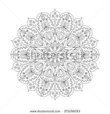 vector floral mandala coloring book stock vector 375299293