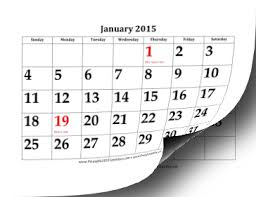 printable 2015 calendar with large dates