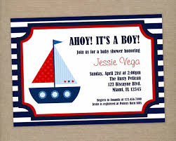 unique ideas for ahoy its a boy baby shower invitations templates