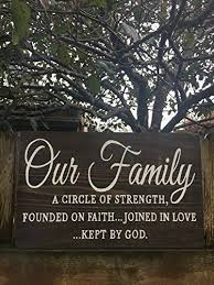 amazon com our family bible quote wood sign bible verse family