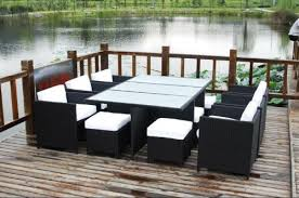 Sectional Patio Furniture Sets Sectional Dining Wicker Patio Furniture Set 13 Pieces Husen