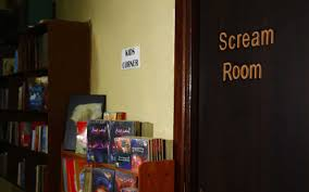 you can scream your stress away in this bookshop u0027s soundproof room