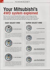 mitsubishi pajero owners manual 2001 gls 2005 pajero 3 2 how does the 4x4 system work