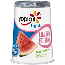 yoplait light yogurt ingredients yoplait light watermelon limited edition fat free yogurt 6 oz from