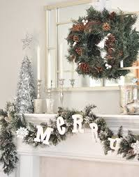 White Christmas Decorations For Mantel by Decorate Mantel For Christmas Furnish Burnish