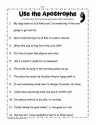 Editing And Proofreading Worksheets Apostrophe Worksheets Worksheets