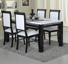 Black White Dining Table Chairs Mariaalcocer Model Home Furniture Ideas