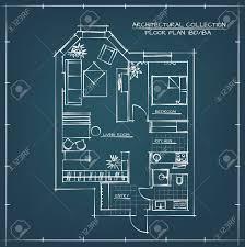 blueprint floor plan architectural blueprint floor plan studio apartment with one