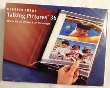 talking photo album sharper image talking pictures 36 photos messages photo album ebay