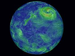 Earth Globe Map World by Interactive Watch The World U0027s Winds Swirl Across The Globe In