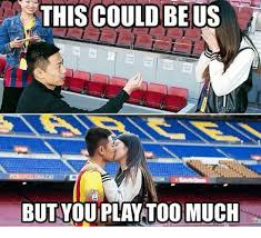 This Could Be Us But You Playing Meme - this could be us but you play too much soccer meme on esmemes com