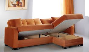 kubo convertible sectional sofa in rainbow orange by istikbal