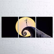 nightmare before christmas home decor wall art posters home decor 3 pieces halloween canvas prints