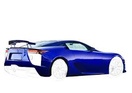 lexus lfa blue illustration of a lexus lfa done by me in about 25 hours the