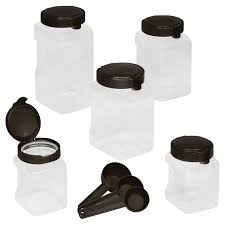 white canister sets kitchen snapware airtight food storage 10 pc square canister set shop