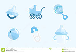 set of item for baby boy royalty free stock photography image