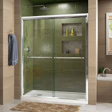 dreamline duet 44 48 in width frameless bypass sliding shower