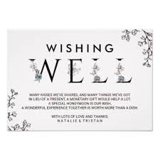 wedding gift experience ideas floral typography wedding wishing well card wedding
