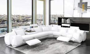 canape en cuir blanc angle cuir blanc