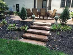 Slope For Paver Patio by Steps And Stairs Richmond Va Hardcape Stair Installation Cross