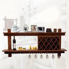 solid wood wine rack hanging cup wine rack hanging cabinet display