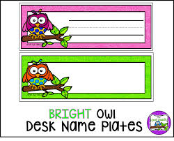 Student Desk Plates by The Owl Teach July 2015