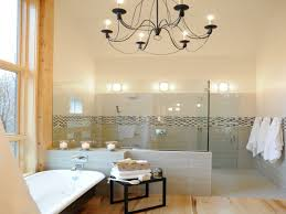 modern bathroom ceiling lighting white corner wall mounted
