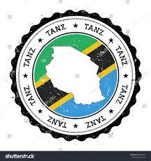 Flag Of Tanzania United Republic Tanzania Map Flag Vintage Stock Vector 364048550