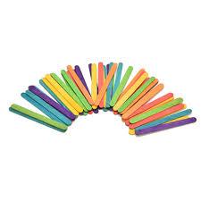50pcs puzzles wooden popsicle stick kids hand crafts art ice cream